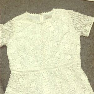 NWT very delicate white dress